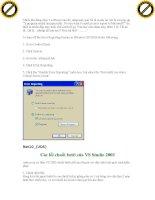 Giáo trình window: Hướng dẫn xử lý các vấn đề trong hệ thống chương trình trên window phần 2 potx