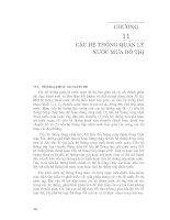 Kỹ thuật và quản lý hệ thống nguồn nước ( Đại học Quốc gia Hà Nội ) - Chương 11 doc