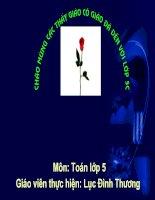 Giáo án điện tử tiểu học: Nhân một số thập phân với 10-100-1000 potx