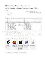 Chiến lược marketing của apple pdf