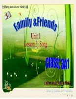 Giáo án điện tử tiểu học: Tiếng anh lớp 3- family and friends pot