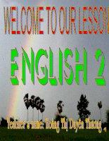 Giáo án điện tử tiểu học môn tiếng Anh: Tiếng anh lớp 2 pdf