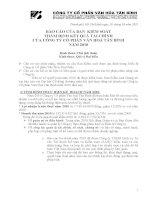 công ty cổ phần văn hóa Tân Bình - nghị quyết của hội đồng cổ đông thường niên năm 2011 pdf