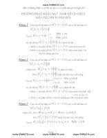 Một số phương pháp vẽ đồ thị của  hàm số có chứa dấu giá trị tuyệt đối