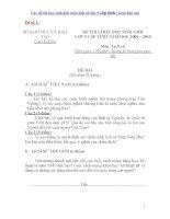 Các đề thi học sinh giỏi môn lịch sử lớp 9 cấp tỉnh ( kèm đáp án)
