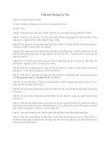 Câu hỏi Ôn tập và Thi Môn học: Công trình Biển cố định 1 ppsx