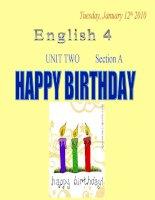 Giáo án điện tử tiểu học:tiếng anh lớp 5 Unit2 Happy birthday English4 ppsx