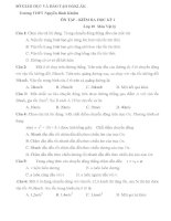 ÔN TẬP - KIỂM RA HỌC KỲ I Lớp 10 Vật lý potx