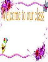 Giáo án điện tử tiểu học môn tiếng Anh:My school subjects doc