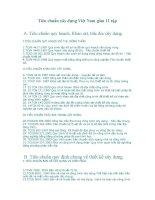 Tiêu chuẩn xây dựng Việt Nam gồm 11 tập ppsx