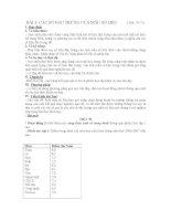 BÀI 3: CÁC SỐ ĐẶC TRƯNG CỦA MẪU SỐ LIỆU (Tiết: 70-71) potx