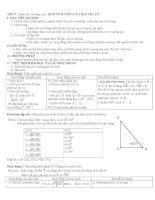 Tiết 17 (Hình học 10 nâng cao) TÍCH VÔ HƯỚNG CỦA HAI VEC TƠ ppsx