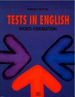 Tests in english  word formation by mariusz misztal big