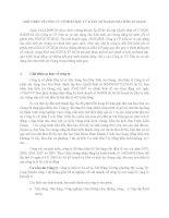 THỊ TRƯỜNG CHỨNG KHOÁN - GIỚI THIỆU VỀ CÔNG TY CỔ PHẦN ĐẦU TƯ & XÂY DỰNG SAO MAI ppsx