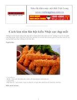 Cách làm tôm lăn bột kiểu Nhật cực đẹp mắt pdf