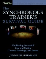 education the synchronous trainers survival guide phần 1 ppt