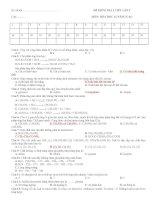 DE KIEM TRA HOA HOC 12 C7 lan 2 2011 pdf