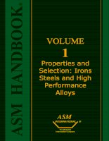 Volume 01 - Properties and Selection Irons, Steels, and High-Performance Alloys Part 1 docx