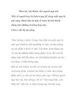 Món ăn, bài thuốc cho người ngủ mê pdf