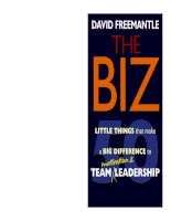 50 little things that make a big difference to team motivation and leadership phần 1 potx