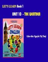 Giáo án điện tử tiểu học:tiếng anh lớp 5 Unit 10 The weather pdf
