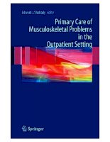 Primary Care of Musculoskeletal Problems in the Outpatient Setting - part 1 ppsx