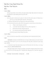 Đề Thi và đáp án Cấu Trúc Dữ Liệu Và Giải Thuật - ĐHCNTT - ĐHTN ppt
