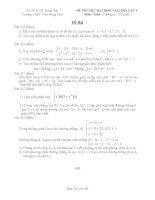 Đề thi thử đại học 2011 môn toán trường THPT Trần Hưng Đạo ppsx