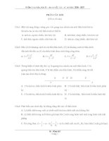 Kiểm tra vật lý 12 học kỳ 2 docx