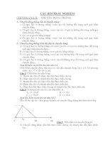 CÂU HỎI TRẮC NGHIỆM Vật lý 10 pps