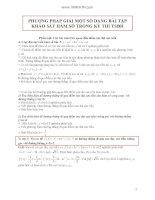 Phương pháp giải một số dạng bài tập khảo sát hàm số trong kỳ thi TSĐH