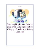 Luận văn: Một số giải pháp cơ bản về phát triển vùng nguyên liệu Công ty cổ phần mía đường Lam Sơn pot