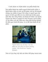 Cách chăm sóc bệnh nhân sau phẫu thuật tim docx