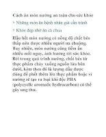 Cách ăn món nướng an toàn cho sức khỏe pdf