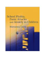 School Phobia, Panic Attacks and Anxiety in Children - part 1 potx