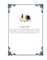 Đề tài: MỘT SỐ GIẢI PHÁP NHẰM THỰC HIỆN TỐT CÔNG TÁC QUẢN LÝ VỐN ĐẦU TƯ XÂY DỰNG CƠ BẢN ĐỐI VỚI NGÀNH THUỶ LỢI pdf