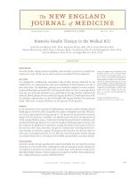 intensive insulin therapy in the medical icu