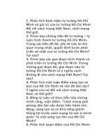 Đề cương câu hỏi ôn tập tư tưởng Hồ Chí Minh pptx