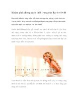 Khám phá phong cách thời trang của Taylor Swift ppt