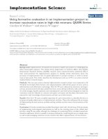 Using formative evaluation in an implementation project to increase vaccination rates in high-risk veterans: QUERI Series docx
