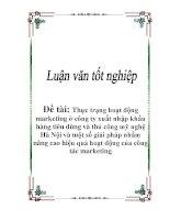 Luận văn tốt nghiệp: Thực trạng hoạt động marketing ở công ty xuất nhập khẩu hàng tiêu dùng và thủ công mỹ nghệ Hà Nội và một số giải pháp nhằm nâng cao hiệu quả hoạt động của công tác marketing potx
