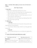 Bài 4 : PHƯƠNG TRÌNH ĐỘNG LỰC HỌC CỦA VẬT RẮN QUAY QUANH MỘT TRỤC CỐ ĐỊNH potx