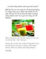 Có nên uống nhiều nước quả khi bị sốt? ppsx
