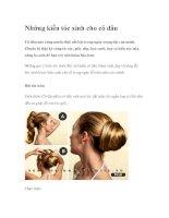 Những kiểu tóc xinh cho cô dâu docx
