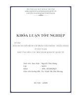 xây dựng mô hình tập đoàn tài chính - ngân hàng ở việt nam đáp ứng yêu cầu hội nhập kinh tế quốc tế (kl)