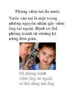 Phòng viêm tai do nước Nước vào tai là một trong những nguyên nhân gây viêm ống potx