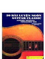 20 bài luyện ngón guitar classic doc
