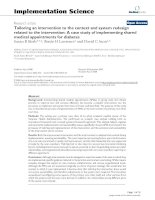 Tailoring an intervention to the context and system redesign related to the intervention: A case study of implementing shared medical appointments for diabetes ppt