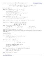 Đề cương ôn tập học kì II năm 2010-2011 môn toán ppsx