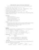 CHUYÊN ĐỀ 7: AXIT TÁC DỤNG VỚI BAZƠ (BÀI TOÁN HỖN HỢP AXIT TÁC DỤNG VỚI HỖN HỢP BAZƠ) pdf